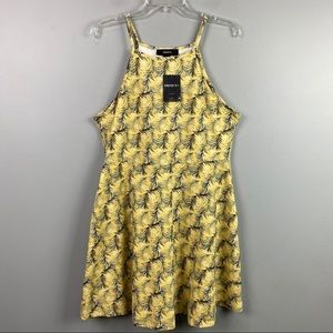 NWT Forever 21+ Tank Dress Yellow Green Size 18